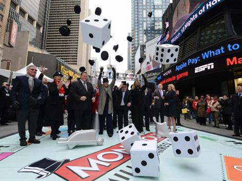 """美国多州联销游戏""""百万富翁专属俱乐部""""在纽约时代广场亮相"""